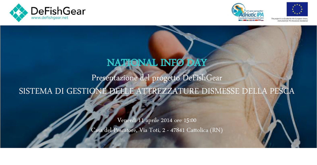 National Info Day del progetto DeFishGear